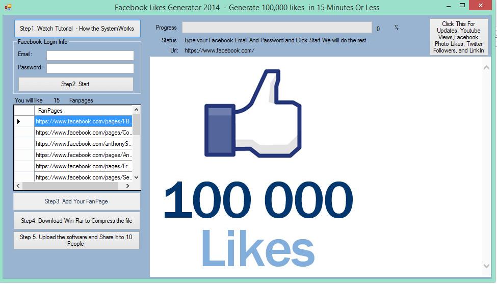 Programy oferujące darmowe like na fb