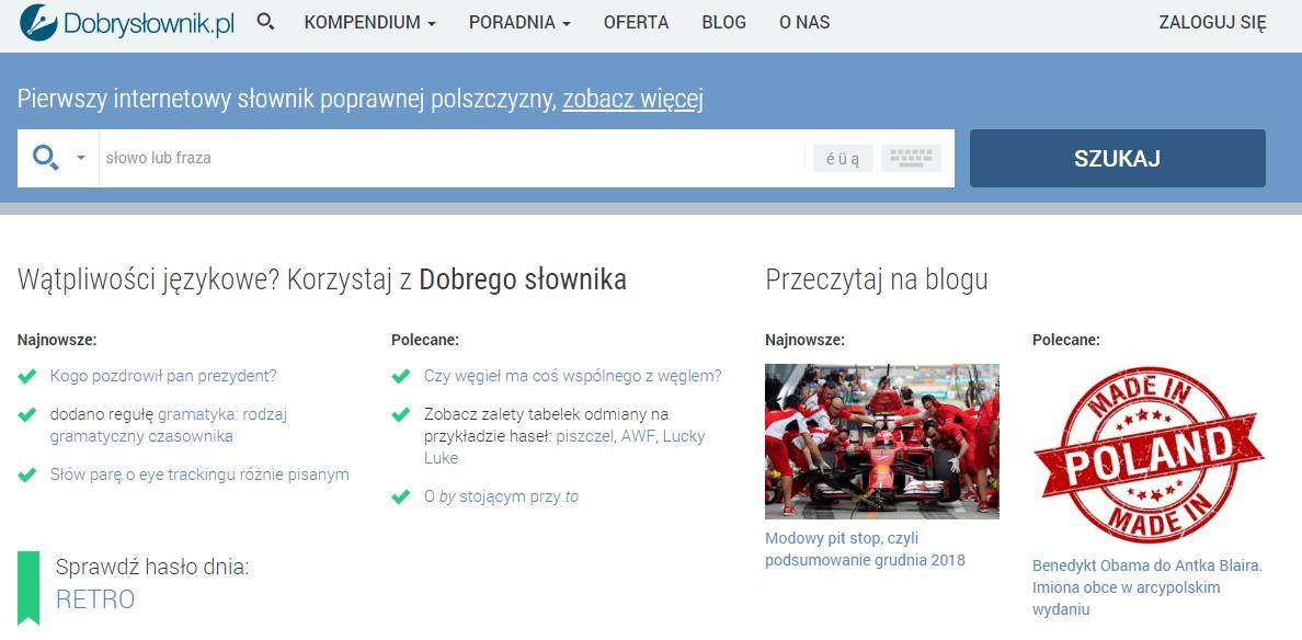 dobryslownik pomocą by znaleźć fajne nazwy na instagrama po polsku