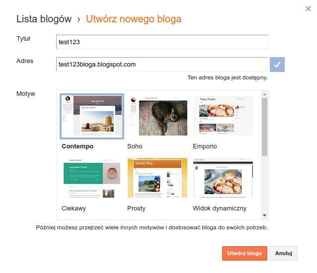 Zakładanie bloga za darmo na blogger.com