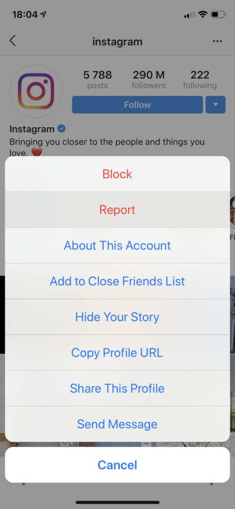 zgłaszanie kradzieży konta na Instagramie